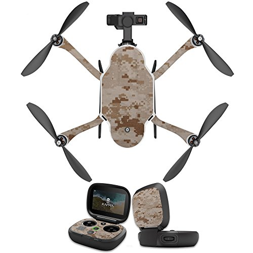MightySkins Skin Compatible with GoPro Karma Drone Headphones wrap Cover Sticker Skins Desert Camo ()