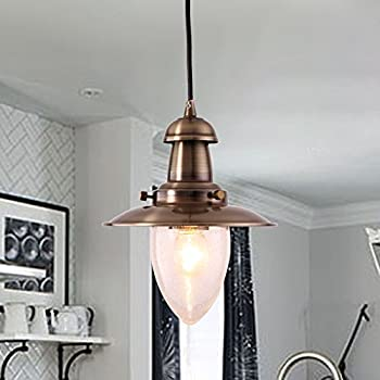 MSTAR Retro Kitchen Pendant Light Industrial Ceiling Pendant Lighting Shade  Fishman Style For Kitchen Dining Room