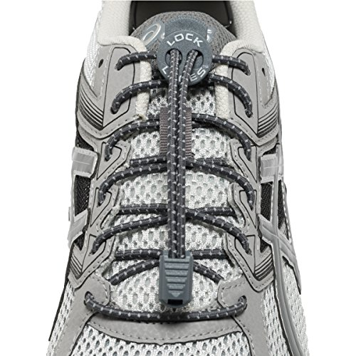 LOCK LACES Reflective 2-Pack (Elastic No Tie Shoelaces) (Storm Gray-Storm Gray) by Lock Laces (Image #2)
