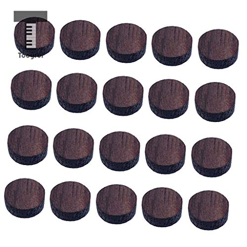 - Value-5-Star - 20 Pieces Rosewood Round Shape Electric Guitar Fingerboard Fretboard Dots Marker Inlay Material 6 x 2mm