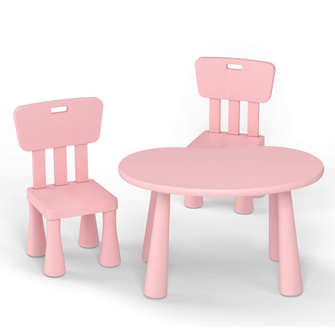 rose two square chairs DAXIONG Ensemble de Table d'étude pour Enfants, Chaise de Table de Jeu pour Tout-Petits dessinateur, Table de Bureau de Jeu pour bébé, Convient aux Enfants de 6 Mois à 6 Ans