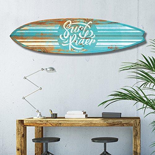 Vertikale decoración pared tabla de surf Hybrid Vintage madera azul cielo 150 x 40 cm: Amazon.es: Hogar