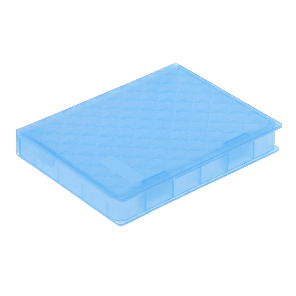 Baosity 2.5'' SSD Hard Drive Case Enclosure HDD Protector Protective Cover Boxs Blue