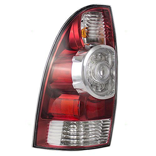 Driver Light Oem Tail - Taillight Tail Lamp with LED Center Lens Driver Replacement for 05-15 Toyota Tacoma Pickup Truck 8156004160