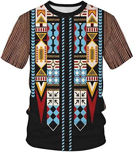 メンズ tシャツ 半袖 インディアン風 おしゃれ ゆったり 面白いTシャツ お揃い