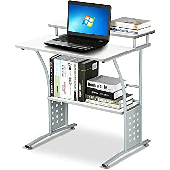 Amazoncom go2buy Small Spaces Computer Desk with Keyboard Tray