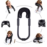 Bendable travel pillow,ergonomic design O-Shape pillow with memory foam-Neck Supporter for airplane,car,office...