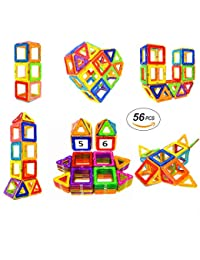 Magnetic Blocks STEM Educational Toys Magnet Building Block Tiles Set for Boys and Girls by Coodoo-56pcs BOBEBE Online Baby Store From New York to Miami and Los Angeles