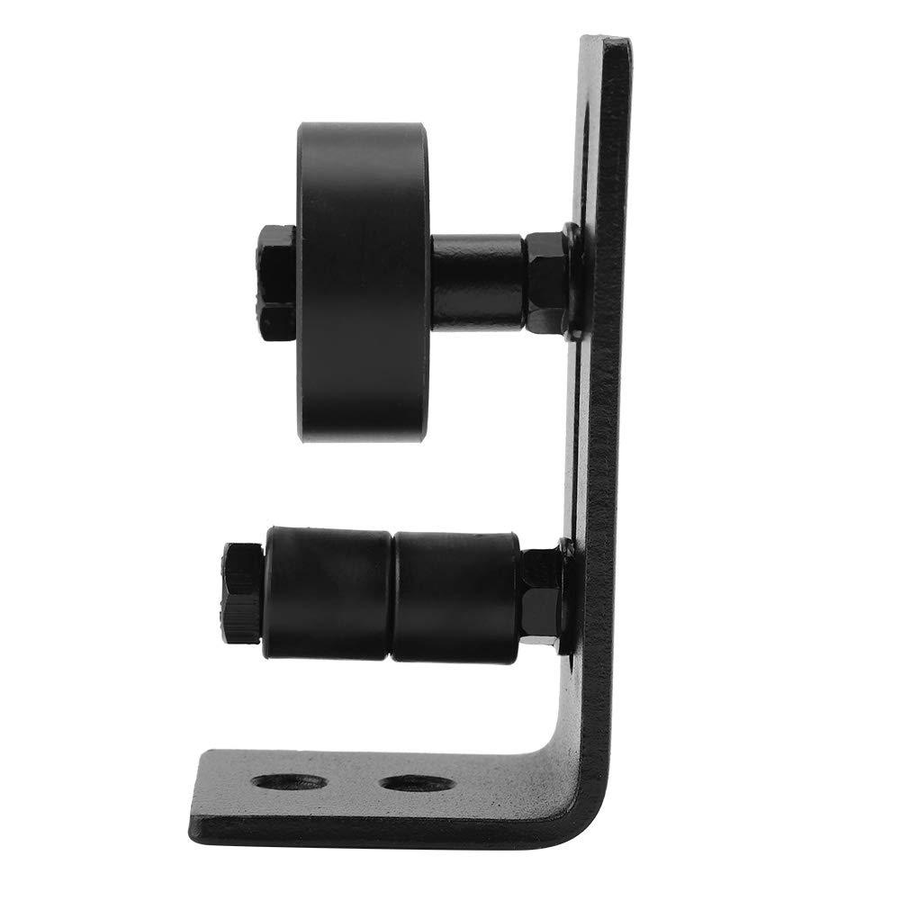 Black Steel Sturdy Durable Tool for Sliding Barn Door with 8 Installation Options Door Guide