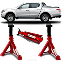 Par Cavalete Mitsubishi L200 Triton Automotivo 4 Toneladas Com 3 Regulagens e Trava