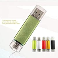 BoL56junH Pen Drives 4/8/16/32/64/128GB USB 2.0 OTG Flash Drive Disk Memory Stick for Android Laptop - Green 64GB