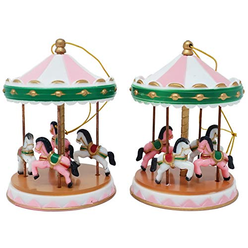Circus Carousel Cake Topper - Pink (2 Count)