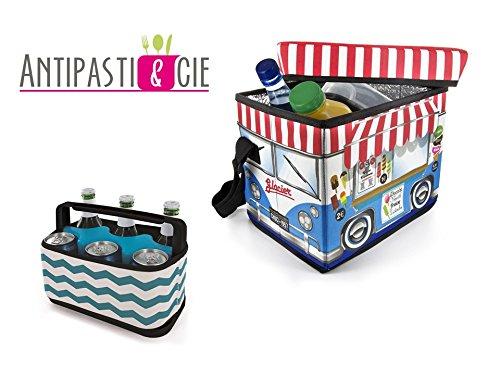 Set 2 glacières, nevera portátil diseño Camión de helados gran ...