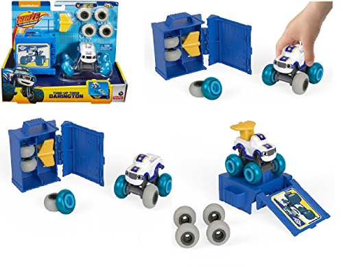 d the Monster Machines TUNE-UP TIRES DARINGTON Die-Cast Vehicle With 8 Mix & Match Tires ()