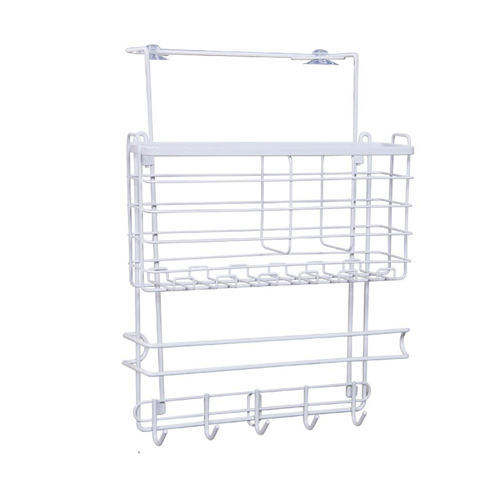 Modern side-mounted storage shelves - retractable lockers, multi-purpose kitchen, bathroom amenities, simple and convenient.