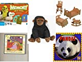 Children's Gift Bundle - Ages 3-5 [5 Piece] - Shrek Forever After Memory Game - 3-D Wooden Puzzle Dollhouse Bedroom Furniture Set Toy - TY Beanie Baby - Congo the Gorilla - 2 in 1 Fairy Tales: Cinde