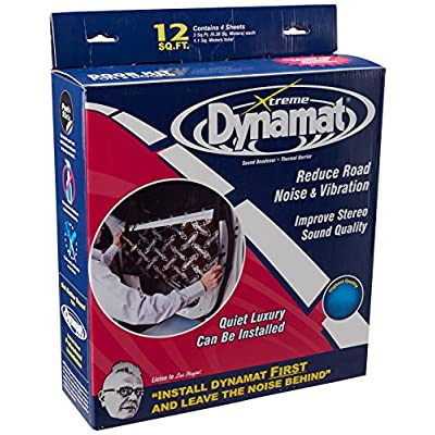 """Dynamat 10435 12"""" x 36"""" x 0.067"""" Thick Self-Adhesive Sound Deadener with Xtreme Door Kit: Automotive"""