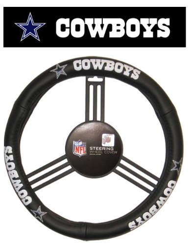 Dallas Cowboys Leather Car Truck SUV Steering Wheel Cover by Fremont Die