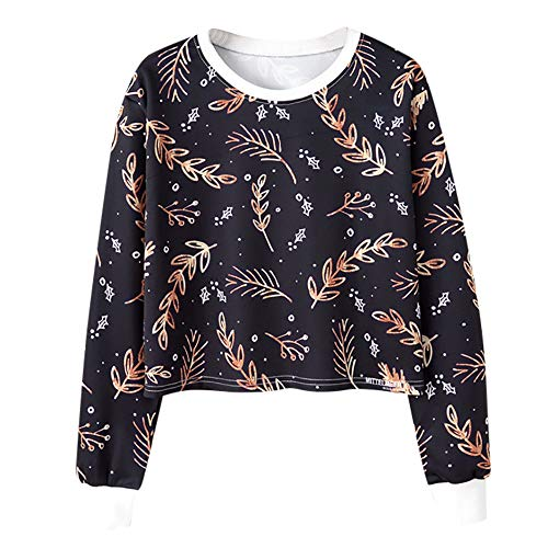 be53b6aa020a BOLUOYI Pullover Sweater Women,Women Ladies Casual Leves Printing T-Shirt  Long Sleevel Tops