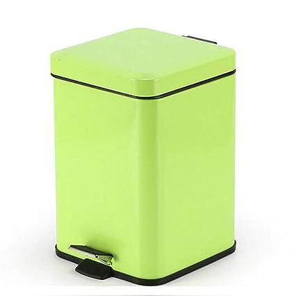 Ju&Lim 6 litros De Pedal Bin con El Plástico Interior del Cubo, La Basura Acero