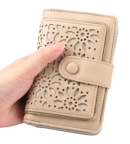 Women RFID Blocking Vintage Organizer Wallet for Ladies Small Purse with Multi Card Holder by Fanaztee (Image #5)