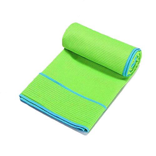Couverture De Serviette De Yoga Silicone Anti-dérapant épais Sport Serviette De Plage Fitness Rapide Suer-absorbant Serviette Tapis De Yoga (183cm X63cm),Green-183*63cm