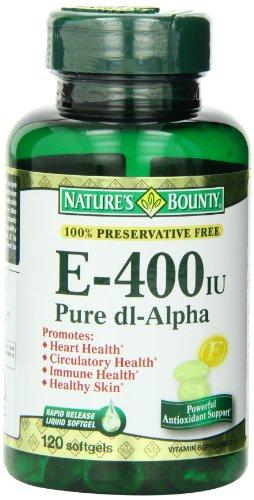 Bounty vitamine E 400 UI de Nature, 120 gélules (Pack de 3)