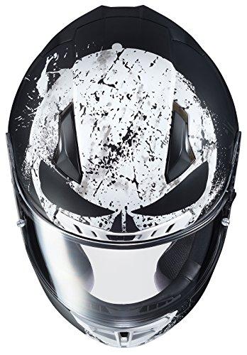 HJC Marvel Unisex-Adult Full face CL-17 Punisher 2 Motorcycle Helmet (MC-5SF, Medium) للبيع