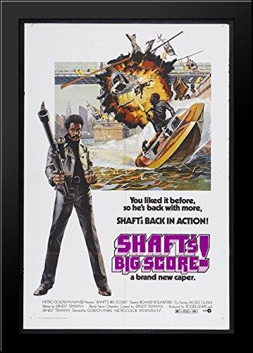 Shaft's Big Score 28x40 Large Black Wood Framed Print Movie Poster Art