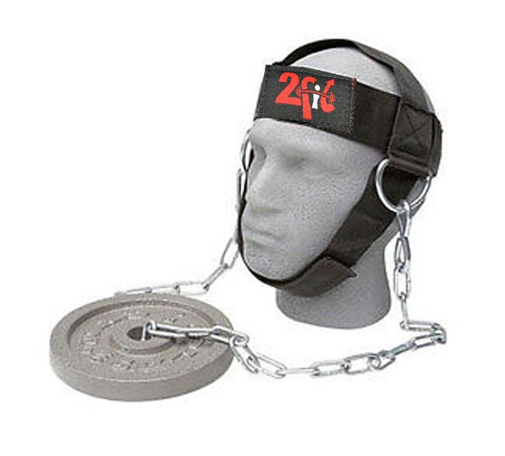Fit Gym Arnés de cabeza para levantamiento de peso correa ajustable entrenamiento