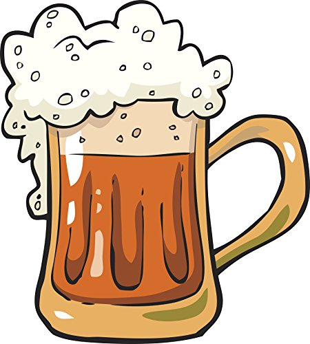 Large Delicious Tasty Foam Root Beer Mug Cartoon Vinyl Sticker (4