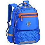 Uniuooi Primary School Backpack Book Bag for Boys Girls 8-12 Years Old Waterproof Nylon Schoolbag Travel Rucksack (Large, Blue)