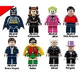 Superhero DC Batman Catwomen Lego Minifigure 8 Set Action Figures Collectables (8 Pieces) Series Building Blocks with Lego