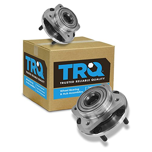 TRQ Wheel Bearing & Hub Assembly Front Pair Set for Chrysler Dodge Plymouth (Voyager Front Plymouth Hub)