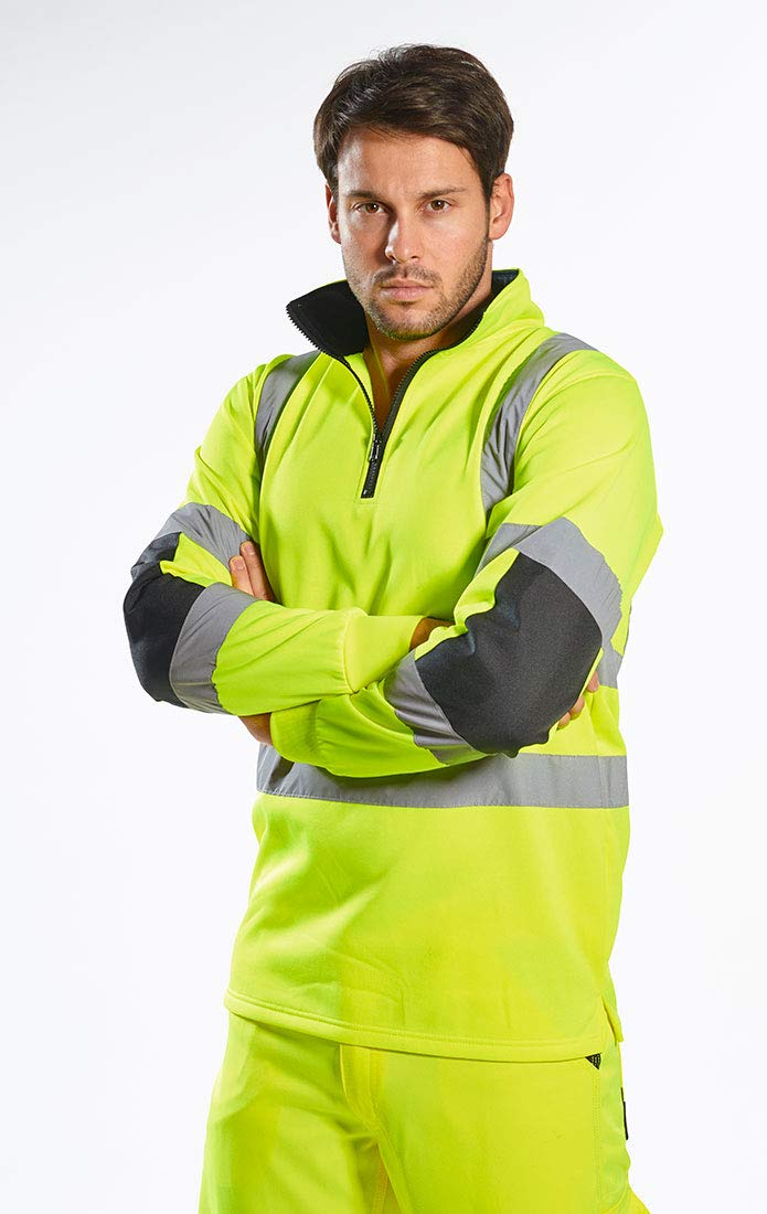 Portwest Xenon Rugby Sweatshirt Pullover Jumper Safety Reflective Work Wear Warm Top ANSI 3, 5XL Yellow by Portwest (Image #3)