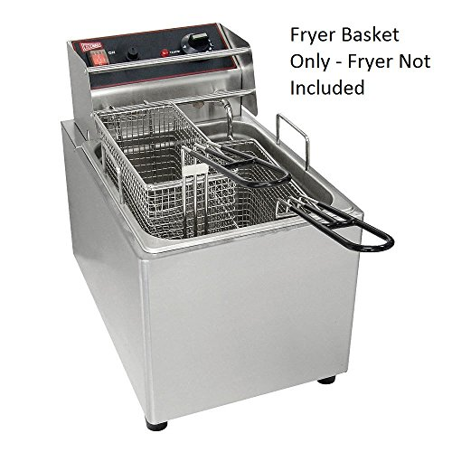 Grindmaster Cecilware 08021L Twin Fry Basket for Fryers EL15, EL25, EL2X15, EL2X25, Stainless Steel