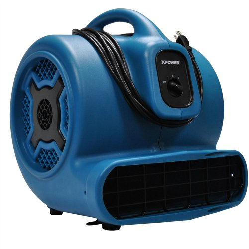 XPOWER X-830 1 HP 3600 CFM 3 Speed Professional Air Mover, 8.5-Amp from XPOWER