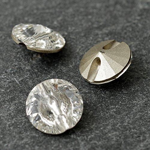 Button 14mm Swarovski 3015 Sew On Rivoli by 4 pcs (Crystal) ()