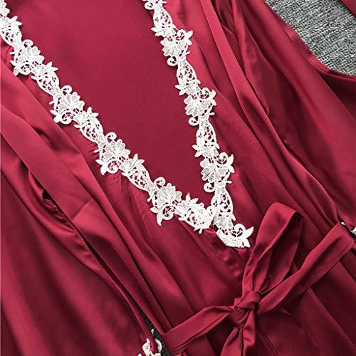 Alalaso 5PC Set Sleepwear for Women Sexy Lace Lingerie Nightwear Underwear Babydoll Shorts Tops by Alalaso sleepwear (Image #1)