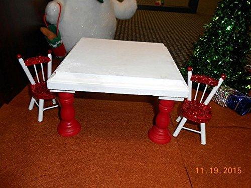Amazon.com: Christmas Elf hand painted wood Kitchen Table ...