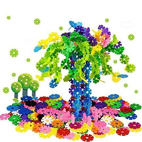 GoldFlower Brain Flakes 300 Piece Creative Educational Plastic Building Blocks Set Engineering Toy for Children Motor Skills
