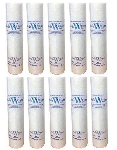 10 pulgadas de filtro PP sedimentos de agua Cartuchos de 1 micrón (Pack de