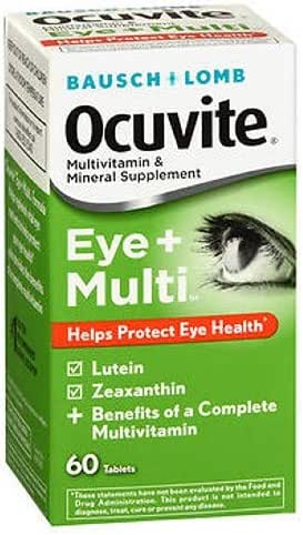 B&L Ocuvite Eye + Multi Size 60ct Pack of 3