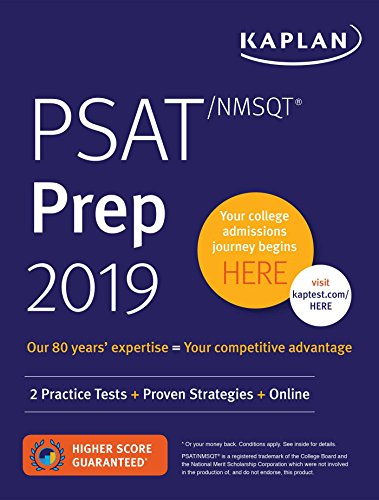 PSAT/NMSQT Prep 2019: 2 Practice Tests + Proven Strategies + Online (Kaplan Test Prep)