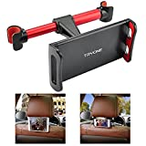 Tryone Car Headrest Holder, Tablet Headrest Mount Compatible with Smartphones/Tablets/Switch 4.7'-10.5', Headrest Posts Width 4.9in-5.9in (Red)