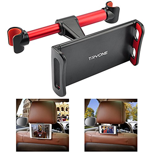 Car Headrest Mount, Tryone Tablet Headrest Holder Compatible with Smartphones/Tablets/Switch 4.7