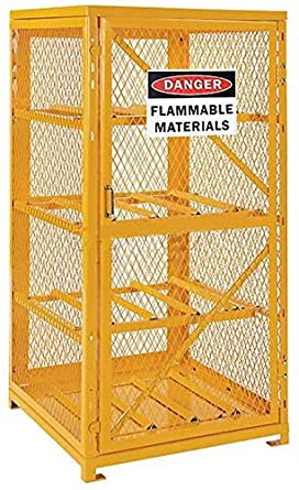 Cylinder Storage Cabinet For Lp Propane Tanks   Stores Eight 20 Or 33 Lb  Tanks