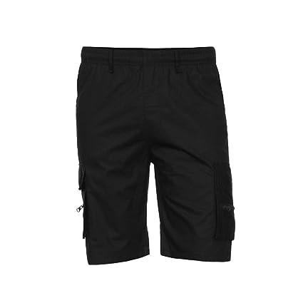 Yesmile Pantalones Hombres Los Deportes Del Trabajo Ocasional Del Ejército Del Cargo Pantalones Cortos Cintura Elástica