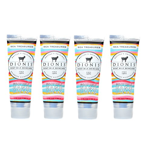 Dionis Goat Milk Hand Cream 4 Piece Travel Gift Set