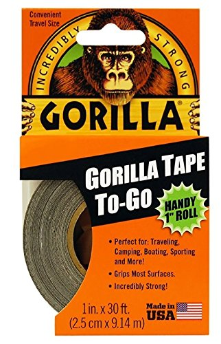"Gorilla Tape To-Go Dexterous 1"" Roll 1 IN (Pack of 18)"